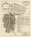 Coleman Street & Bashishaw Wards. Lothbury. City of London. STOW/STRYPE 1720 map